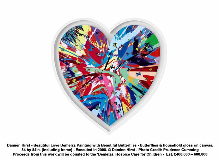 Work on Beautiful Inside My Head Forever – a major Sotheby s auction of new  works by Damien Hirst ... f65d951203e